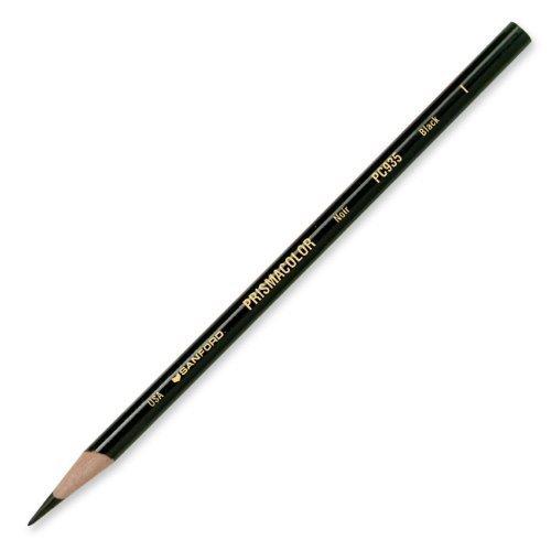 Prismacolor Premier Soft Core Colored Pencil, Black, (4-Pack of 12)