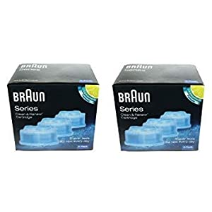 Braun Clean & Renew Shaver Cleaning Refill Cartridges (2 Boxes - 6 Refills)