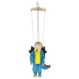 ABA ABA63236Dragon Marionette in Legno, 20cm