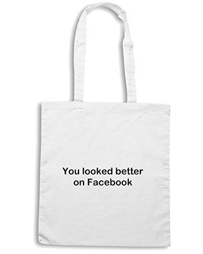 t-shirtshock-borsa-shopping-tdm00309-you-looked-better-on-facebook-taglia-capacita-10-litri