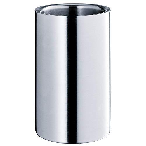 WMF Weinkühler, Sektkühler Manhattan, Edelstahl Cromargan mattiert, doppelwandig, H 19,5 cm, Ø 12 cm