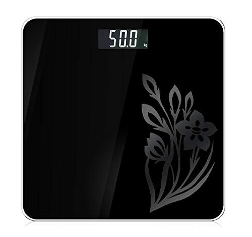 DEWQXS Digitale Gewichtswaage, Multifunktions-Elektronische Waage, kann Innentemperatur, LCD-Monitor, intelligente Schaltermaschine, gehärtetes Glas, geeignet für den Heimgebrauch -