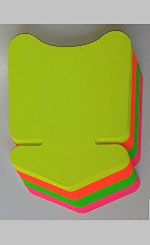Preisschilder 80 Pfeile -aus Neon Karton gemischt 6,4 x 8,8 cm cm 270g/qm Werbesymbole für Räumungsverkauf
