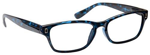 UV Reader Lesebrille Herren Damen Wayfarer Style Blau + 3,50
