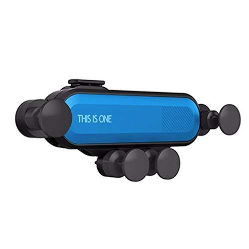 FBGood Auto Handyhalter, Air Vent Universal Auto Schwerkraft Halterung 360 Grad Drehbar Autotelefonhalterung Einstellbar KFZ Einziehbare Lüftung Halter für Handys Smartphone (Blau)