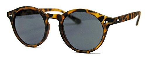 Retro Sonnenbrille 50er Jahre Vintage Look Pantobrille Hornbrille schwarz braun V60 (Matt Braun Leo)