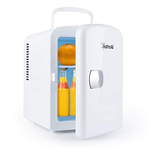 AstroAI 2 in 1 Mini Kühlschrank, 4 Liter mit Kühl- und Heizfunktion 12 Volt am Zigarettenanzünder und 230 Volt Steckdose für Autos, Privathaushalte, Büros und Schlafsäle