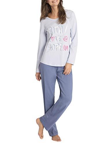 Ringella Damen Pyjama eisblau 40 7511202P