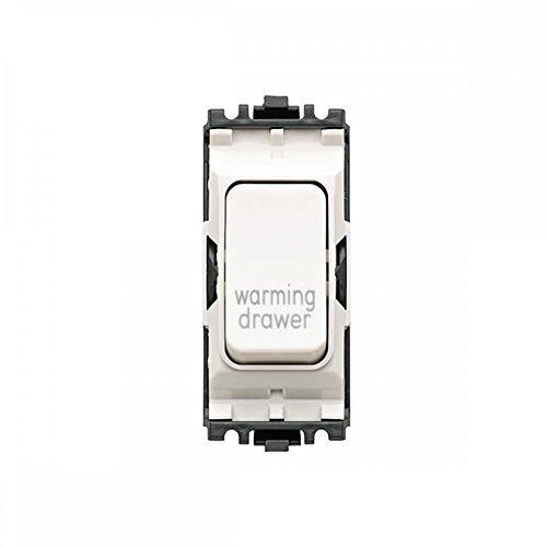 MK elettrico Grid Plus 20AMP 1way DP Warming Drawer Mark bianco interruttore modulo