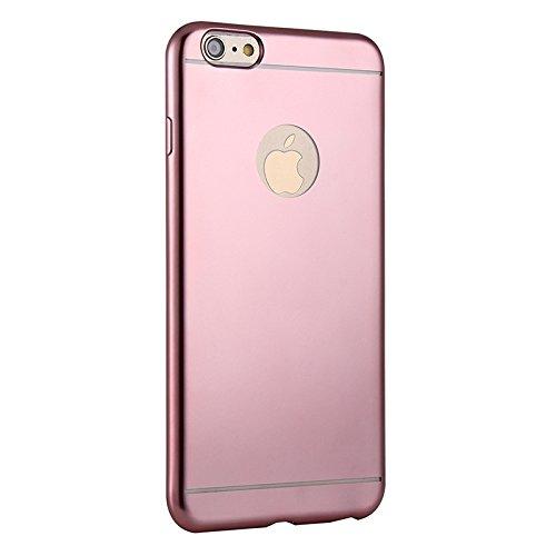 Wkae Case Cover Galvanotechnik TPU Schutzhülle für das iPhone 6 &6s ( Color : Silver ) Magenta
