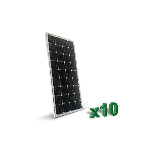 Set 10 x Placa Solar Fotovoltaico 100W 12V Monocristalino 2 x 10 x Placa Solar Fotovoltaica 100W Monocristalino tot. 1kW Placa Solar Fotovoltaico 12V de Silicio Monocristalino , ideal para casas rodantes de comida, botes, casas de campo, sistemas de...