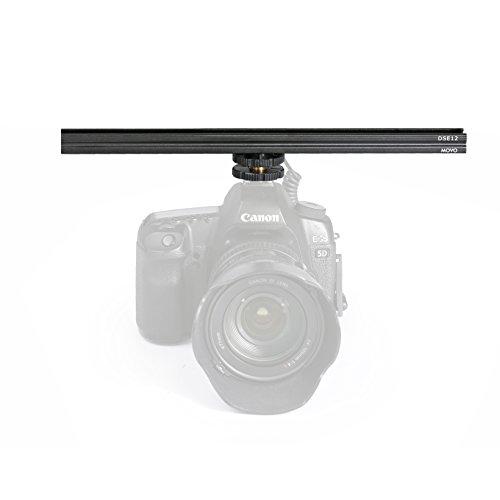 Movo DSE12 Zubehör Blitzschuh Metal Erweiterung Stangenhalterung - Beidseitige Halterung - für Lichterung, Monitore, Mikrofone und mehr (30cm)
