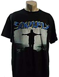 Soulfly - Max Blue Logo Band T-Shirt