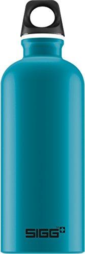 SIGG Traveller Teal Touch, Design Trinkflasche, 0.6 L, Aluminium, BPA Frei, Blau