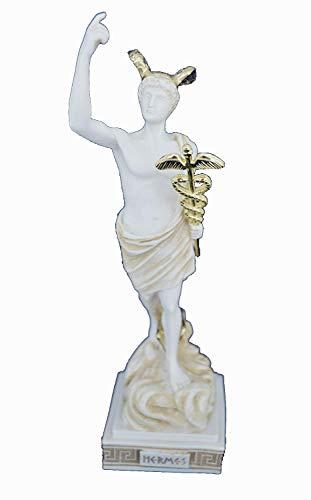 Estia Creations Gott Hermes Skulptur Antike Griechische Messenger der Götter Alter Statue
