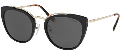 Ray-Ban Damen 0PR 20US Sonnenbrille, Grau (Pale Gold/Black), 54.0