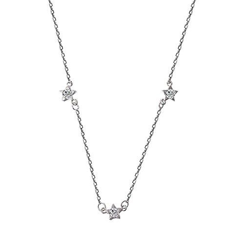 KOMO Morning Star, Sterling Silber Halskette collarbone Kette kurze, einfache student Schmuck personalisierte 5-Stern Anhänger Schmuck