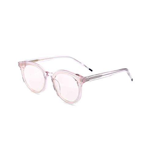 MGMDIAN Sonnenbrille Herrenstern mit dem gleichen Absatz, v Gesicht UV-Schutz, runde Sonnenbrille New Wave (Farbe : Pink)