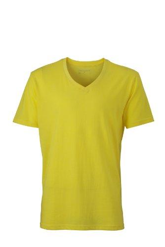 James & Nicholson Herren Langarmshirt T-Shirt Mens Heather Yellow Melange