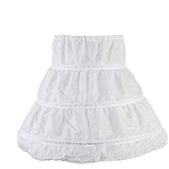 Blanc Carolilly Jupon Sous Robe Fille Pour Les Robes Tutu 3 Cerceau 1 Couche Taille Unique Sou L Jp