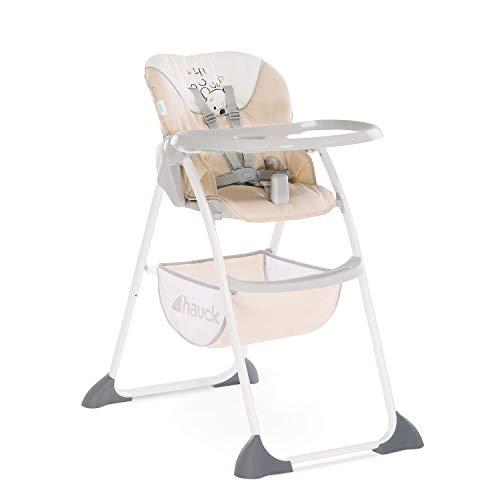 Hauck Sit\'n Fold - Disney Kinderhochstuhl ab 6 Monate, mit verstellbarer Rückenlehne und großem Korb/abnehmbares, tiefenverstellbares Essbrett/schnell und klein zusammenklappbar - pooh cuddles (beige)