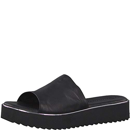 Tamaris 1-1-27204-22 Damen Pantoletten,Pantolette,Hausschuh,Pantoffel,Slipper,Slides,Touch-IT,Black,39 EU