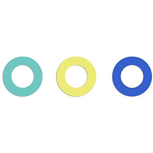 Soulbottles Unisex- Erwachsene SB2GZU-05_BTG Ersatzgummi, Gummipack aus Naturkautschuk • 3er Pack (gelb-türkis-blau), 10 (Gelb Türkis)