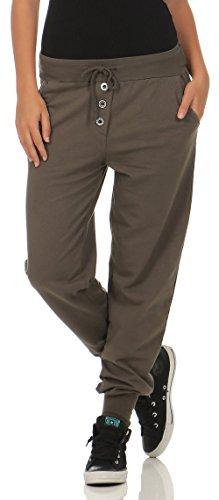 Braune Damen Jogginghose mit elastischen Bund