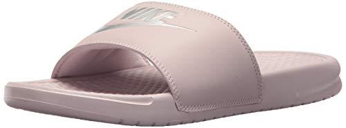 Nike wmns benassi jdi, scarpe da fitness donna, multicolore (particle rose/metallic silver 614), 38 eu