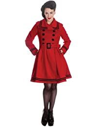 Hell bunny mILLIE cOAT manteau red