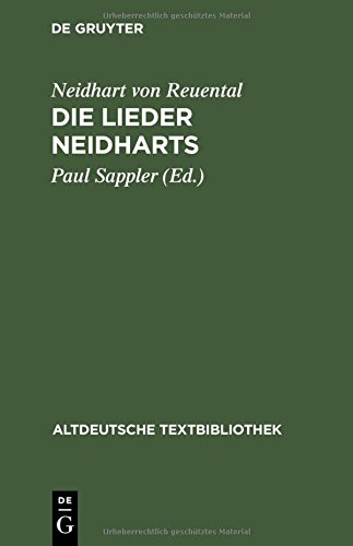 Altdeutsche Textbibliothek, Nr.44, Die Lieder Neidharts