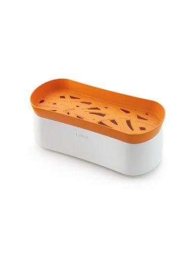 Lékué 0200702N07M017 Pasta Cooker 100 % Platin-Silikon und PBT Kunststoff orange