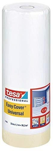 Tesa 04368-00008-01 Adhésif de masquage Easy Cover 4368 Premium 33 m x 1100 mm