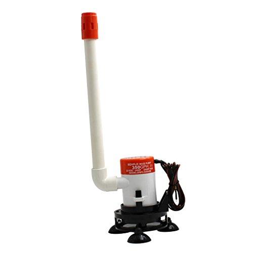 MagiDeal 1 Stück Bilgepumpe 350GPH Elektrische Minilas-Bilgen-Wasserpumpe Boots-Belüftungs-Teile
