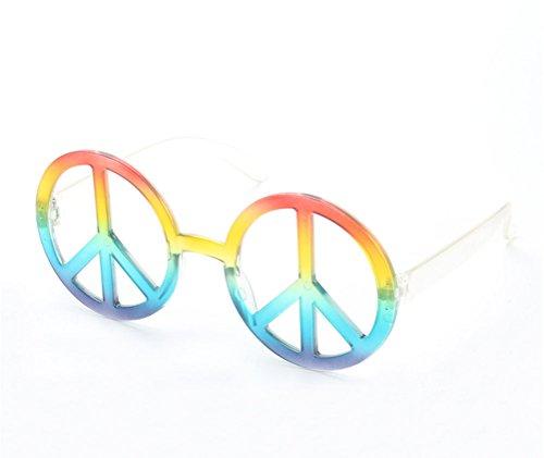 Kostüm Friedenszeichen - Good Night Neuheit-Friedenszeichen-geformte Sonnenbrille-Kostüm-Partei-Gläser