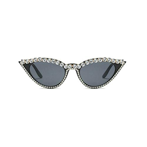 GBST Fashion Exquisite small Frame Diamond Luxury Sunglasses Sunglasses Trend with Sunglasses,Black