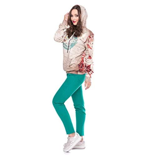 (YOUBan Kapuzenpulli Damen Party Pullover Bluse Frauen Halloween Brief Print Langarmshirt Kapuzenpullover Winterjacke Hoodies Outerwear)