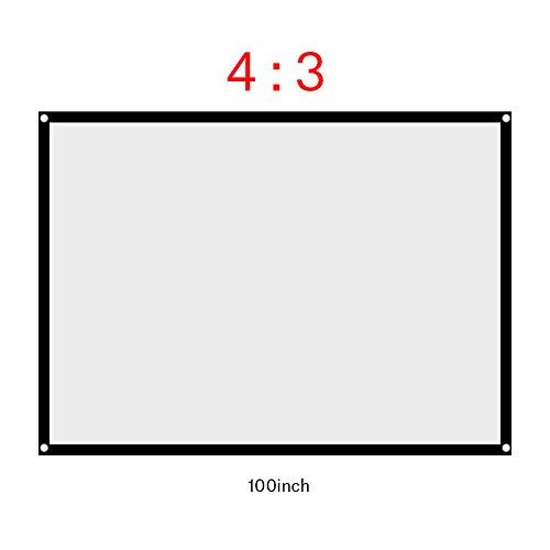 Tonysa 4: 3 Pantalla Proyector 60/72/84/100 Pulgadas