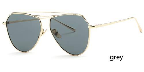 LKVNHP Hohe qualität uvapcobjektivcatEyeSonnenbrilleFrauenVintageSicherheit zu schützen Eyesight 2018 sunlasses männermarkendesigneroculoswtyj120 Gold grau