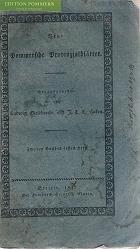 Neue Pommersche Provinzialblätter. 2. Band, 1. Heft