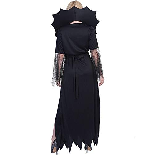 XIXICLOTHES Spinnen-Dame Black Widow Gothic Witch Halloween-Kostüm der Erwachsenen (Bilder Der Alten Lady Kostüm)