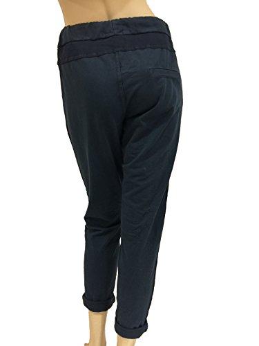 fashion&DU Damen UNI STREIFEN Jogginghose Jogging Hose Stretch 36-42 rosa weiß D. Blau