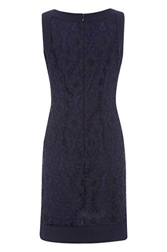 Roman Originals Damen Ärmellos Spitze Kleid Marine Blau