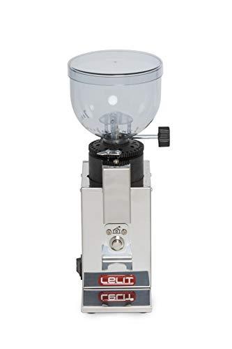 Lelit PL043 MMI Fred PL043MMI Kaffeemühle-Edelstahl-Gehäuse-Mikro-regulierung des Mahlens, Stainless Steel