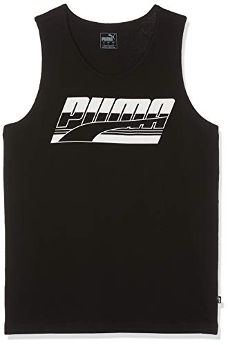 Puma Herren Rebel Tank Tanktop, Cotton Black, M -