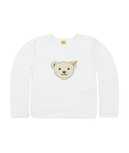 Steiff Unisex - Baby Sweatshirt Classics Nicky 0002881, Gr. 56, Weiß (bright white)
