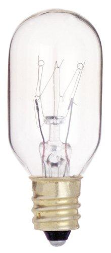 Klar Satco-glühlampe (Satco S3907130V Kandelaber Boden 25Watt T8Leuchtmittel, klar)