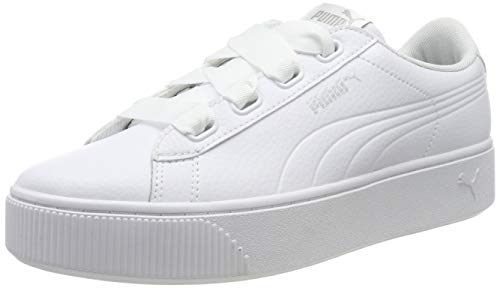 Puma Vikky Stacked Ribbon Core, Sneaker Donna, Nero White 02, 37.5 EU