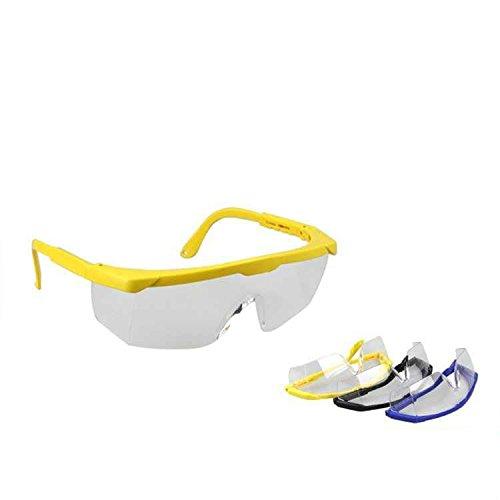 Yalulu 3Pcs Kinder Schwarz Blau Gelb Elite Schutz Schutzbrille Brillen für Nerf Gun N-Strike Elite Series (Kinder Nerf-gun-brille)