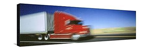 Reproduction sur toile tendue Truck, Whitman County, Washington State, USA par Panoramic Images - 36x107 cm